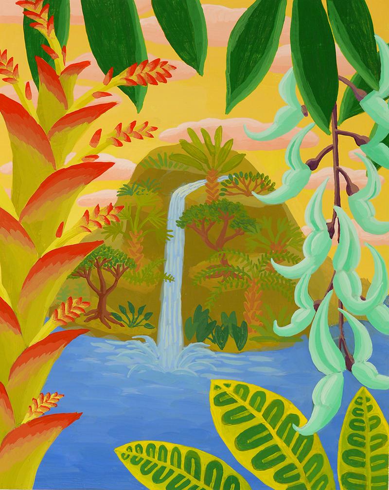 Jungle Waterfall Study Amy Lincoln